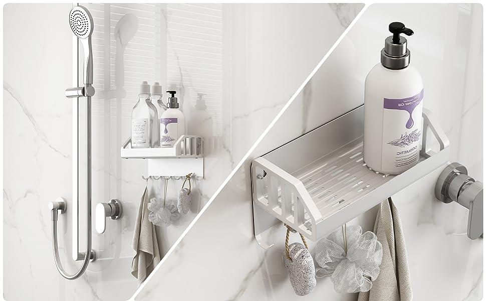 浴室用ラック マグネット  高品質のアルミ合金を採用し 洗面所、キッチン、玄関、オフィスなどの場所を問わず、簡単に使えるマグネット式の小物ホルダー