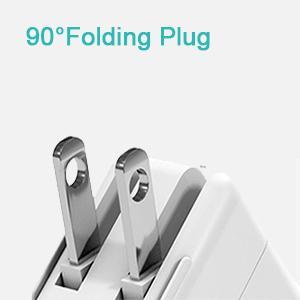 90°Folding plug