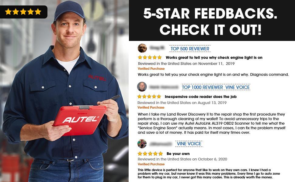 5-star feedback
