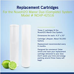 replacement cartridge manor system carbon taste filter