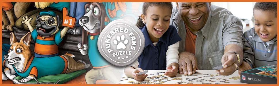dolphins dog puzzle
