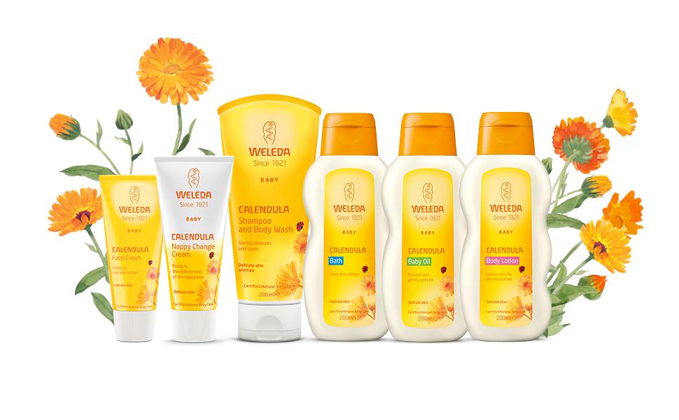 Weleda Calendula Baby Skincare range