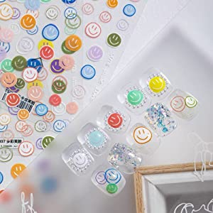 Cute Smiley Emoticon Pack Nail Art Sticker Decals