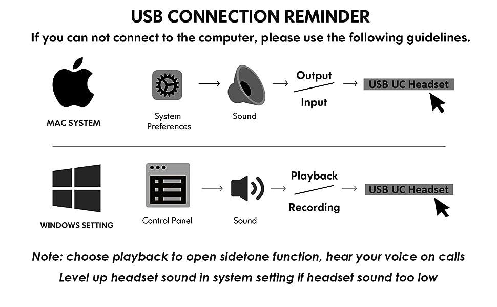 pc headset seting