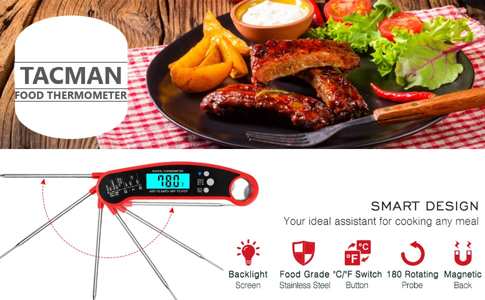 Tacman Instant Read Meat Thermometer