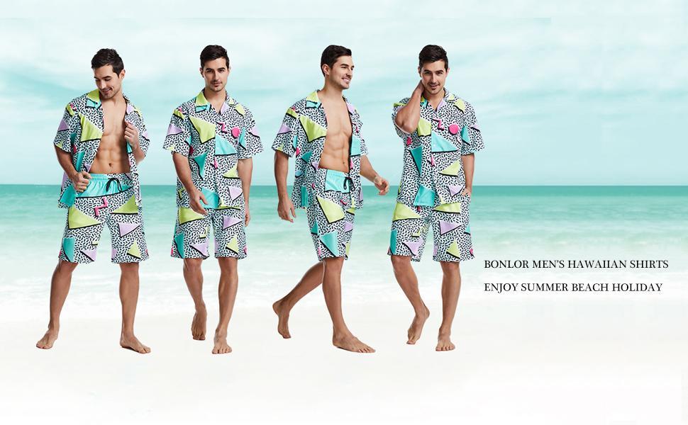 Holiday festival clothing Cotton Medium Men/'s 80s Vintage Casual Shirt Cruise