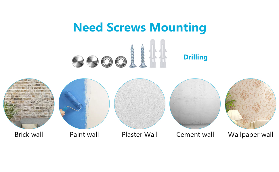 Paper Towel Holder Wall Mount, Under Kitchen Cabinet Paper Towel Holder - Self Adhesive/Drilling