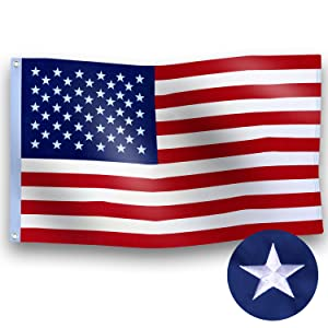 embroider  American flag