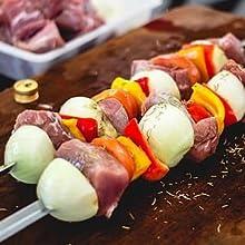 kebab skewers healthy kebabs onions peppers