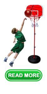 Kids Adjustable Height Basketball Hoop Stand Set