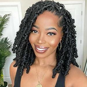 HANNE Afro Twist Braided Dreadlock Wigs for Black Women