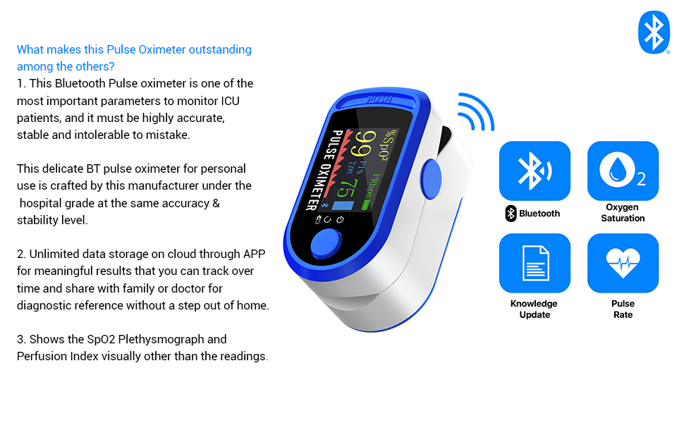 Bluetooth Pulse Oximeter Outstanding