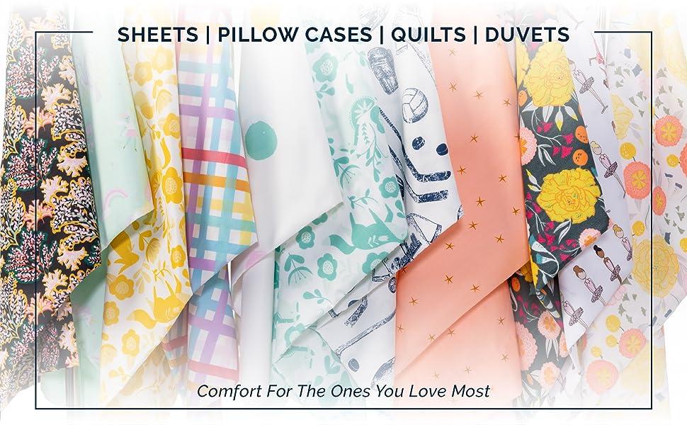 Sheets | Pillow Cases | Quilts | Duvets