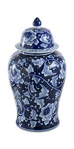 18'' Aline Blue amp; White Jar