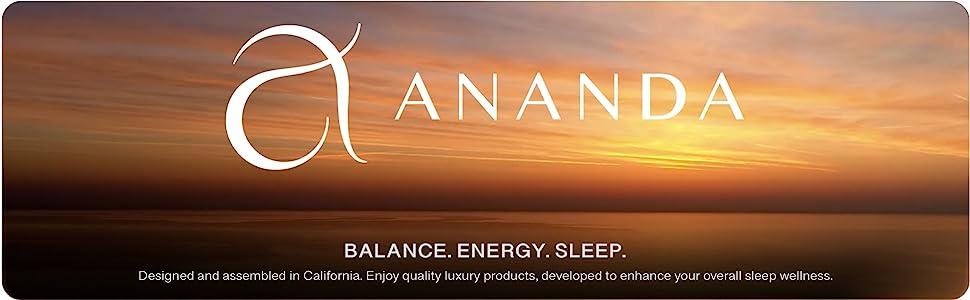 Ananda - Balance. Energy. Sleep.