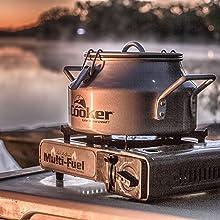 Steam cooker, steamer, corn cooker, campfire pot
