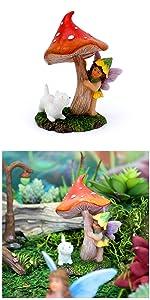 Fairy garden outdoor supplies indoor mini miniature accessories tools supply fairy dog mushroom cute