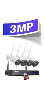 3mp wireless camera kit