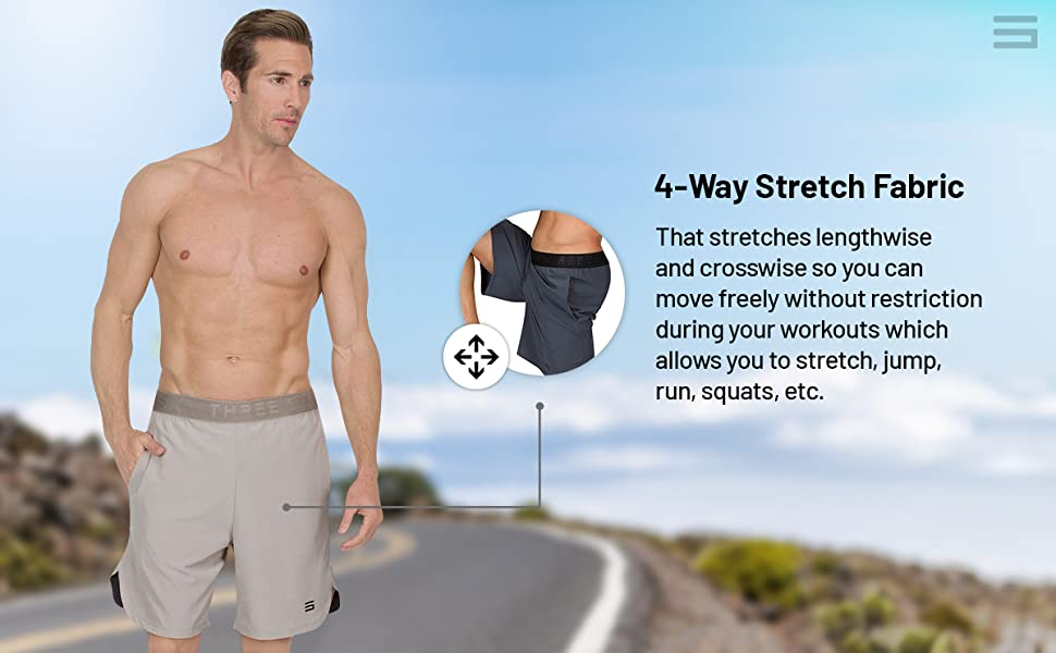 4-way stretch fabrication allows you use move in all directions without restriction.