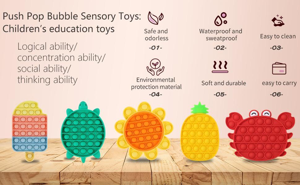 Push pop bubble sensory toys