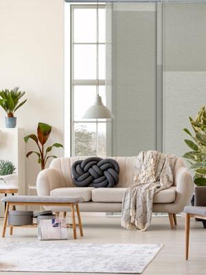 GoDear Design Gray Colored Window Shade Blind, Couch Potato