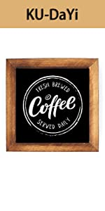 Fresh Brewed Coffee Served Daily Framed Block Sign Rustic