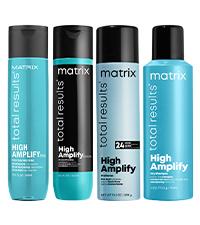 matrix total results high amplify volume hair shine