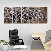 brown tree metal art