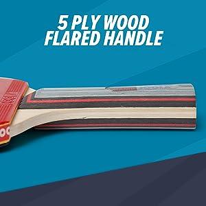 5 Ply Wood Flared Handle Joola table tennis racket ping pong paddle