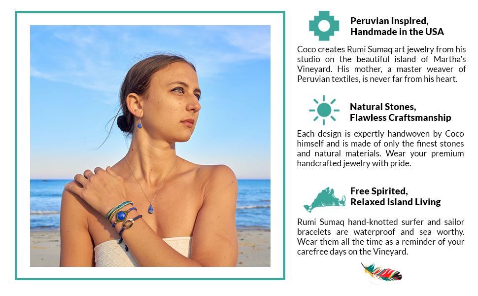 Rumi Sumaq Natural Stone Beach Jewelry Handmade on Martha's Vineyard