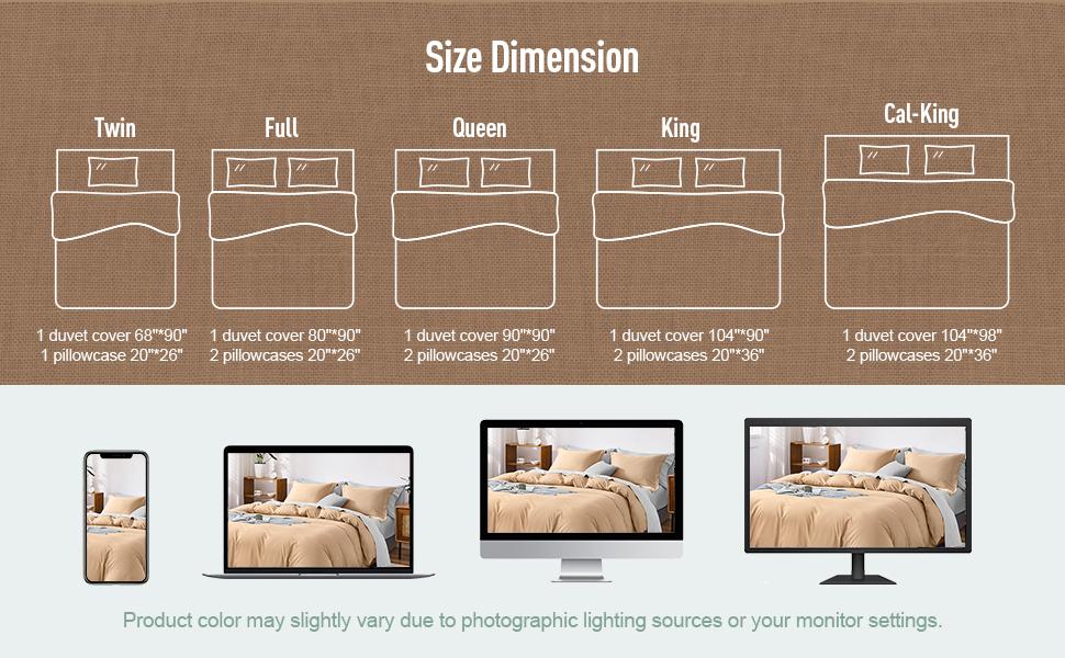 duvet cover size dimension