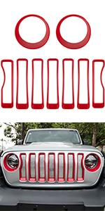 grille insert and headlight cover for JL