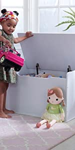 KidKraft Austin Wooden Toy Box/Bench