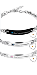 Faith as Small as Mustard Seed Can Move Mountains Bangle