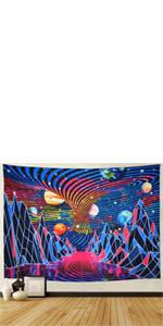 Trippy Mountain Tapestry