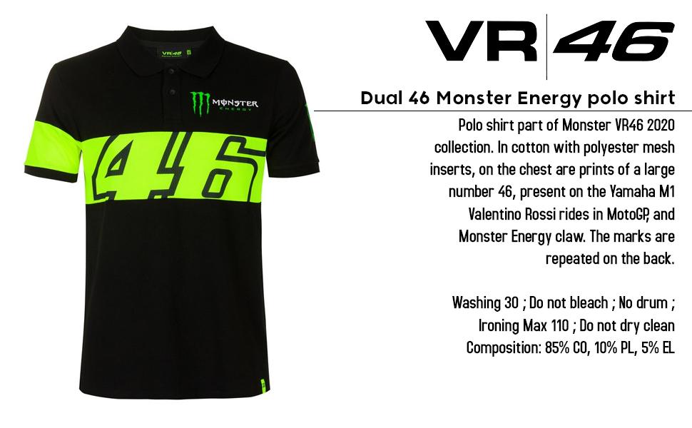 Dual 46 Monster Energy Polo
