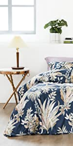 luxury leaves egyptian cotton duvet cover set
