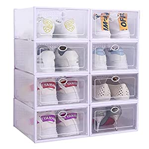 Moisture-proof, Convenience, Stylish and Save place, a functional way to store your shoes 8 pack