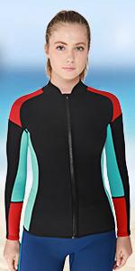 women jacket wetsuit