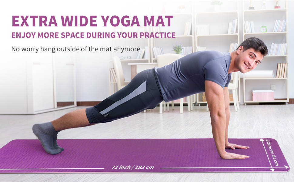 Extra wide yoga mat