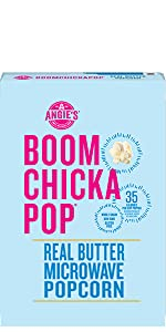 Angie's Boom Chicka Pop Gluten- Free Real Butter Microwave Popcorn