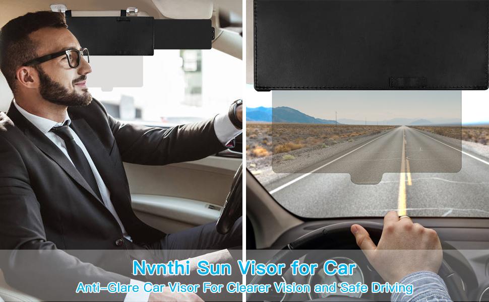 visor car sun night day driving glare universal 2 in 1 anti vision block new