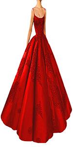 spaghetti strap ball gowns