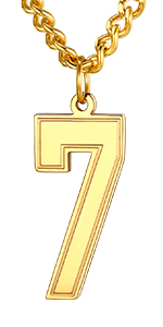 Jersey Number Necklace