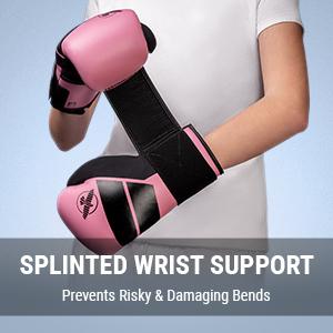 Youth wearing Hayabusa S4 Kids Pink Boxing Gloves doing up single strap closure