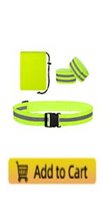 TCCFCCT Reflective running gear, reflective running belt