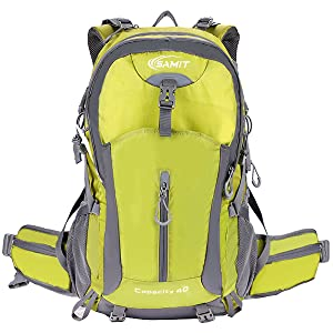 Hiking Backpack 40L Camping Backpack with Waterproof Rain Cover Hiking Daypack Lightweight Travel