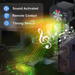 Sound control party light