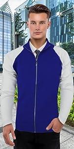 Mens Stylish Colorblocked Full Zip Cardigan