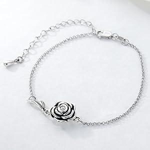 Rose Flower Urn Bracelet for Ashes